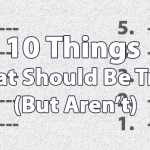 10 things that should be true