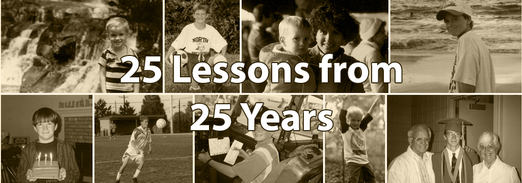 25 years 25 lessons