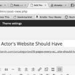 for actors websites
