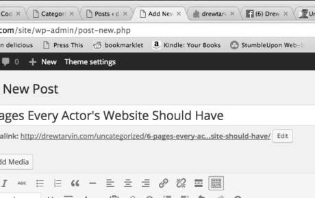 6 Pages Every Actor's Website Should Have