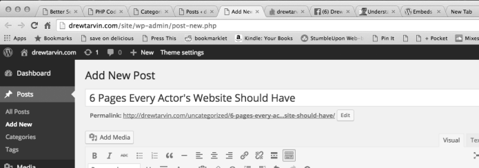 for actors websites