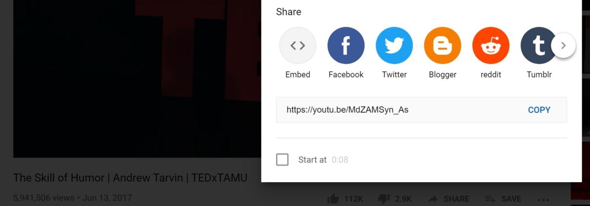 promoting tedx video
