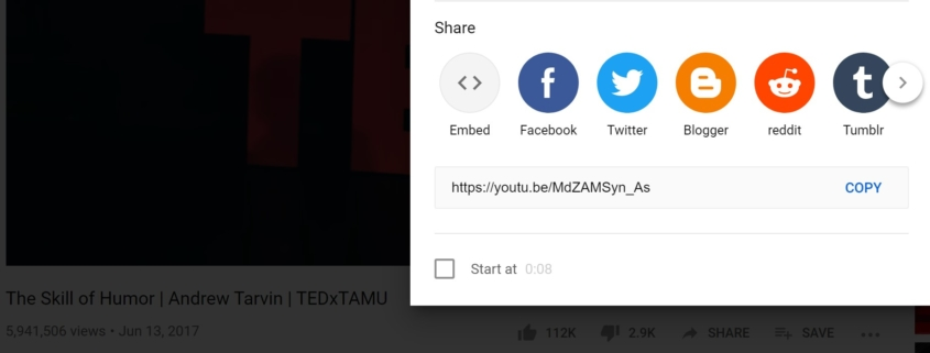 promoting tedx video